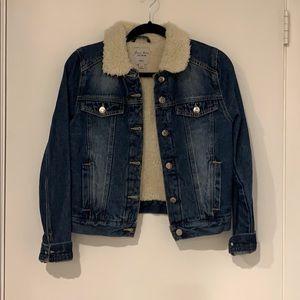 Jackets & Blazers - Sherpa Denim Jacket